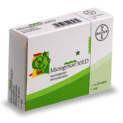 Changement de pilule pour Microgynon de Bayer
