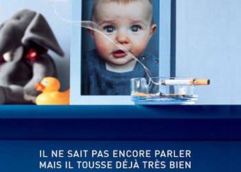 La tabagisme passif concerne particulièrement les enfants
