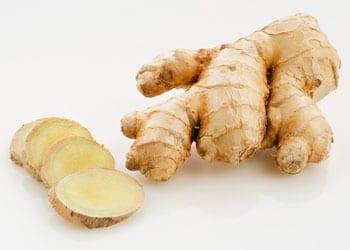 Le gingembre utilisé contre les douleurs d'estomac