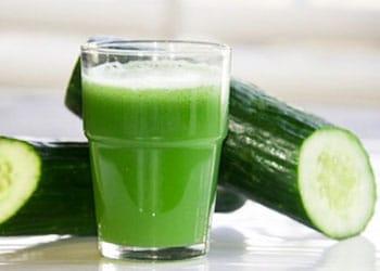 Smoothie au concombre pour éviter d'absorber les hydrates de carbone