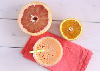 Smoothie pamplemousse orange pour bruler les graisses